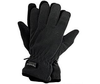 Перчатки чёрные флисовые с утеплителем Thinsulate