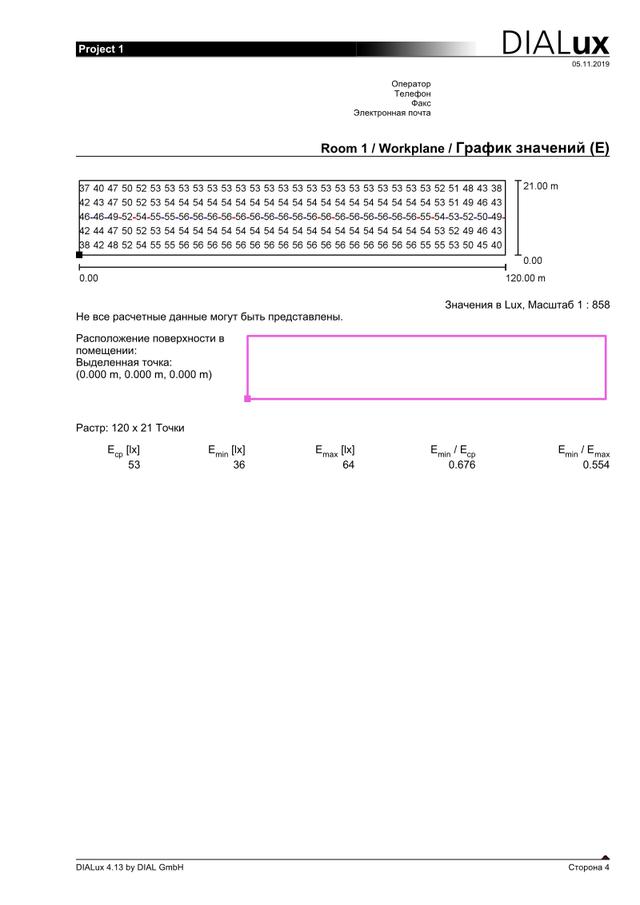Проект освещения птичника для бройлеров для Мироновской в одну линию