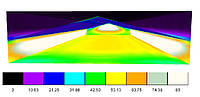 Проект освещения птичника для бройлеров 120*21 м
