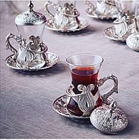 Чайные армуды Sena Kusakli серебристый 6 штук, фото 1