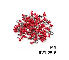 Наконечники кольцевые с изоляции (0,5-1,5мм2) RV 1.25- 6