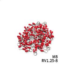 Наконечники кольцевые с изоляции (0,5-1,5мм2) RV 1.25- 8