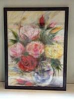"""Картина из шерсти """"Весенний букет"""""""