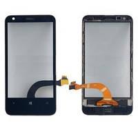 Оригинальный тачскрин (сенсорное стекло) с рамкой для Nokia Lumia 620 REV 3 (черный цвет)