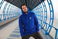 Толстовка мужская утепленная Nike синяя