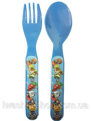 Набор детских столовых приборов: ложка и вилка c Щенячий патруль Paw patpol для мальчиков, Disney