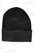 Шапка вязанная зимняя чёрная, фото 2
