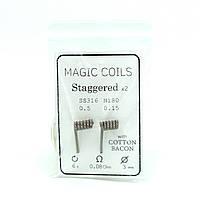 Комплект спіралей Magic Coils Staggered №53 2 шт 0.08 Ом