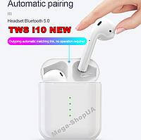 Беспроводные сенсорные Bluetooth блютуз наушники и гарнитура i10 NEW TWS для телефона. Бездротові навушники