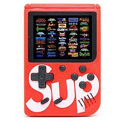 Портативная игровая консоль Ретро Sup Game box Red 400 игр в 1 приставка для геймеров денди