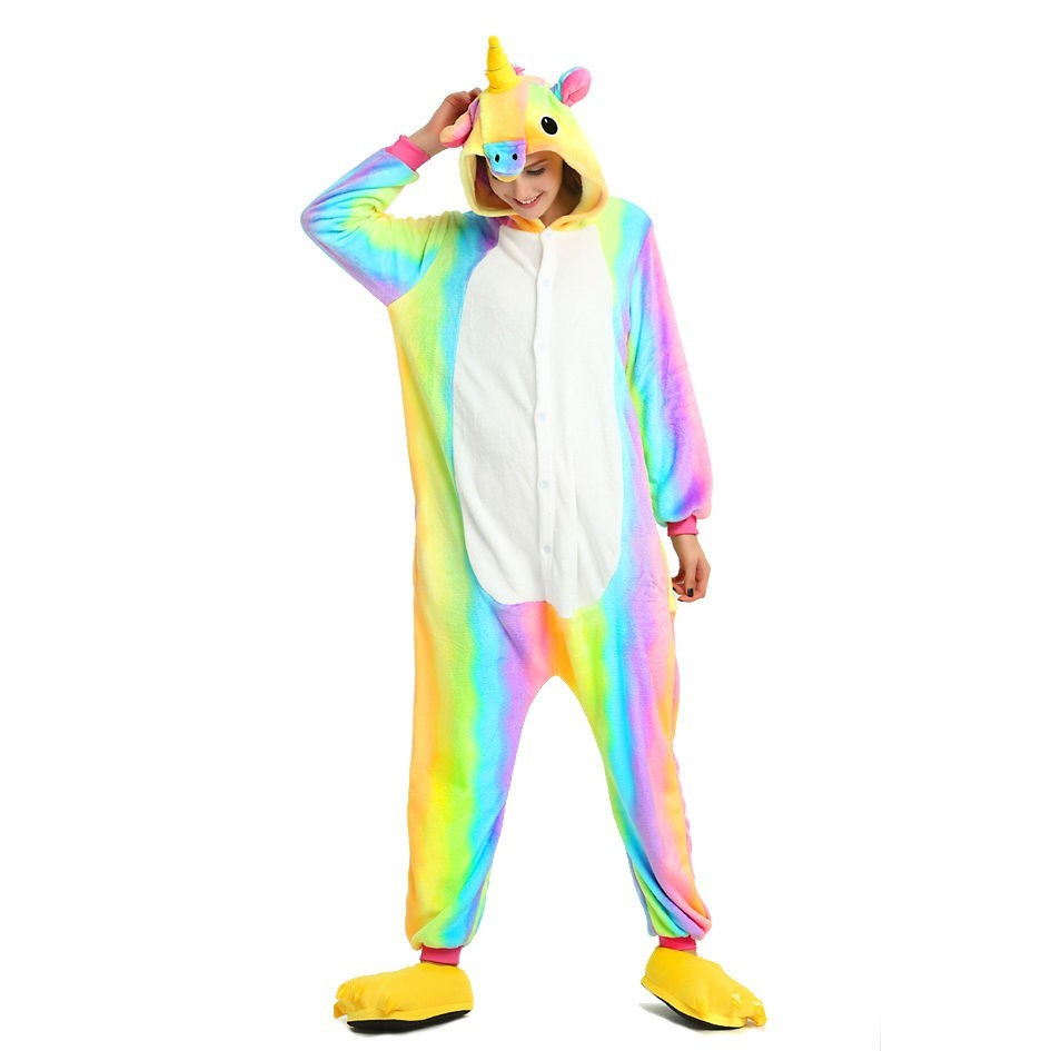 Кигуруми пижама костюм Единорог райдужный размер XL