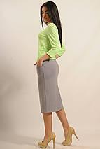 Женский юбочный костюм с кофтой в полоску (Сити ri), фото 3