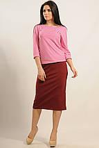 Женский юбочный костюм с кофтой в полоску (Сити ri), фото 2