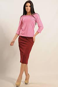Женский юбочный костюм с кофтой в полоску (Сити ri)