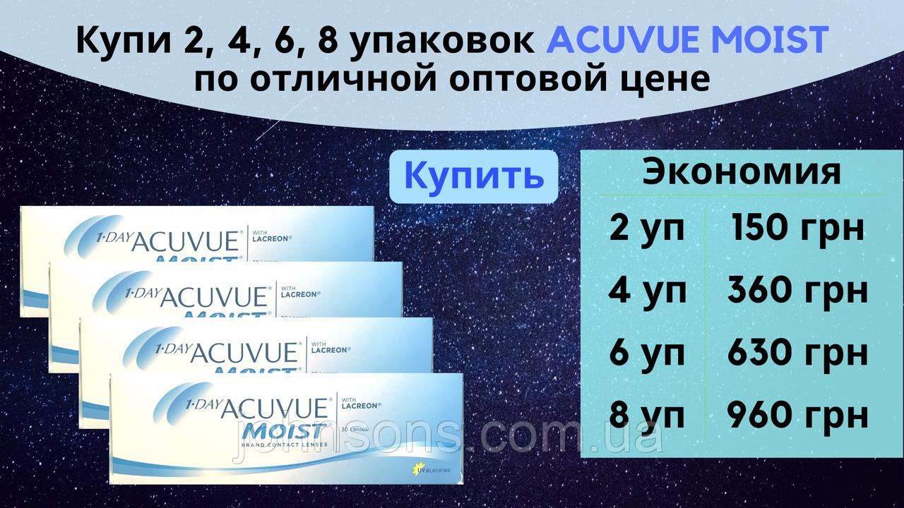 1 day Acuvue Moist Однодневные Контактные линзы - Скидка на опт!