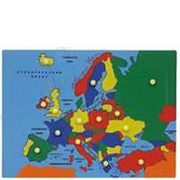 Развивающее пособие М.Монтессори Карта Европы