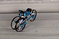 Квадрокоптер-трансформер (квадрокоптер + мотоцикл 2 в 1 - QY Leap Speed PRO) Синий, фото 5