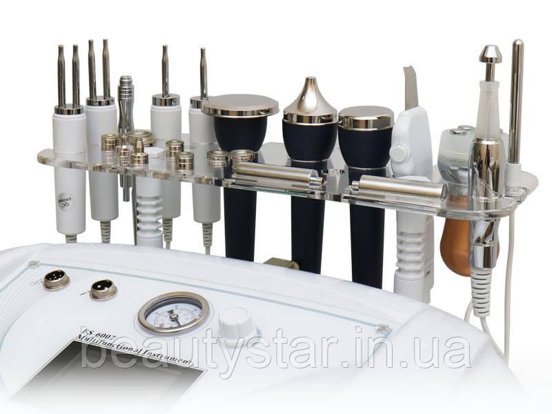 Настольный косметологический аппарат  5 в 1 микротоки, уз, скрабер, микродермабразия, электропарация мод. 6007