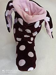 """Велюровые """"Ушки"""" домашние женские сапожки- теплый подарок себе и близким!! Размеры 35- 40"""