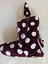 """Велюровые """"Ушки"""" домашние женские сапожки- теплый подарок себе и близким!! Размеры 35- 40, фото 4"""