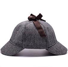 Кепка Шапельє шапка Шерлока Холмса, шляпа охотника за оленями на размер головы 55см, фото 2