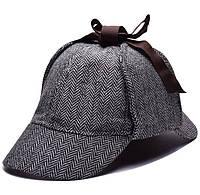 Кепка Шапельє шапка Шерлока Холмса, шляпа охотника за оленями на размер головы 55см