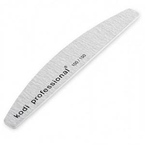 Пилка для нігтів Kodi Half Grey півмісяць, 100/100