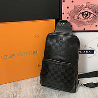 Крутая нагрудная сумка Louis Vuitton, фото 1