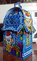 """Новогодняя упаковка из картона """"Домик веселых обезьян"""" 400г., фото 1"""