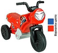 Детский беговел мотоцикл Mochtoys с наклейками, велобег для детей (дитячий біговел, велобіг для дітей) Красный