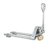 Ручная гидравлическая оцинкованная тележка для паллет AZ25, грузоподъемность 2500 кг, вилы 1150/540 мм