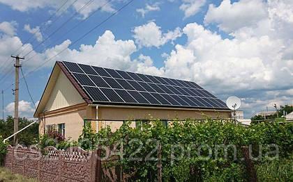 """Специалистами нашей компании """"РА ИНЖИНИРИНГ"""" была смонтирована, запущенна и подключена к сетям солнечная сетевая электростанция, мощностью 12 кВт, в городе Орехов."""
