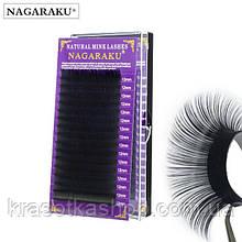 Nagaraku черные ресницы для наращивания (16 линий)