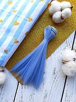 Волосы для кукол прямые, 15 см, намотка 90-100 см, Василек