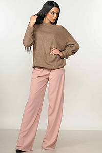 Женский костюм со свитшотом и широкими брюками (Микаэль-Шер ri)