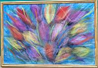 """Картина из шерсти """"Тюльпаны"""""""