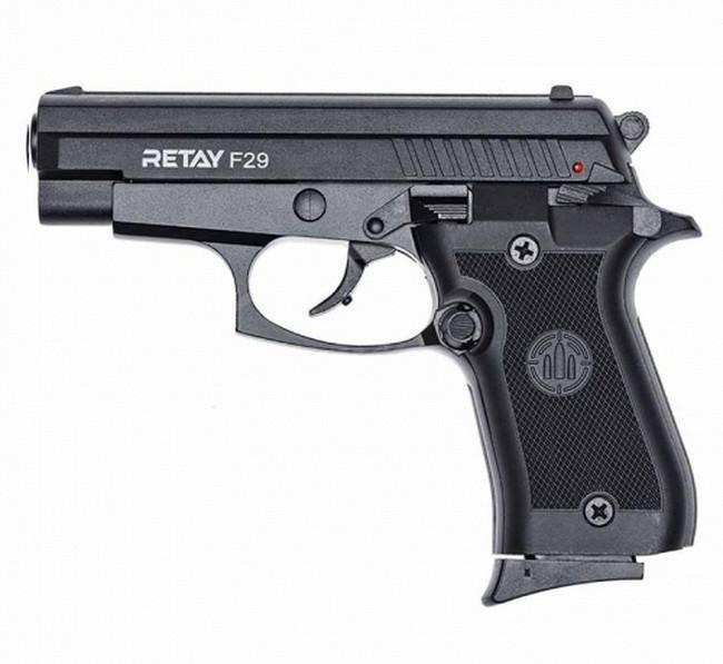 Пистолет сигнальный стартовый Retay F29 (9мм, 10 зарядов), черный