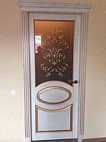 Межкомнатная дверь Овал ясень
