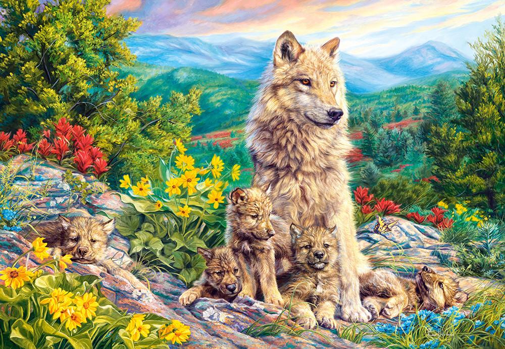 Пазлы Новое поколение, Волки на 1000 элементов, NEW 2020