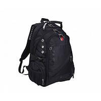 Универсальный рюкзак + дождевик + USB Swissgear Men Bag 8810 39 л Черный (fr22)