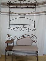 Кованый набор мебели в прихожую  -  012