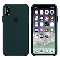 Чехол на iPhone Apple Silicone Case XS Max  Forest Green