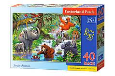 Пазлы макси Животные из джунглей на 40 элементов, NEW 2020