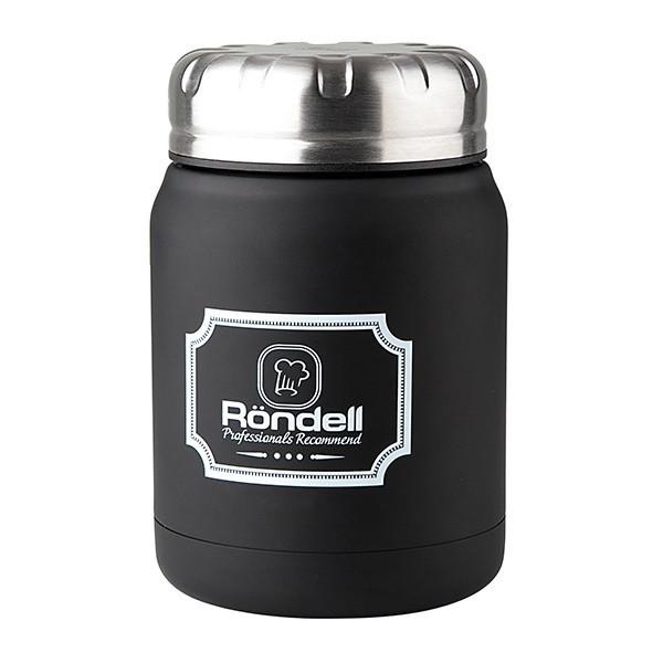 Термос пищевой Rondel Picnic черный 0,5л нержавейка (RDS-942)