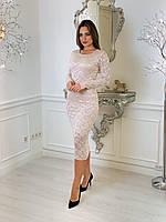 Вечернее гипюровое платье, фото 1