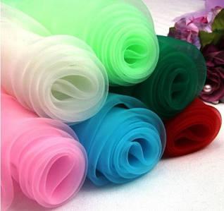 Фатин, евросетка цветная в рулонах и на метраж