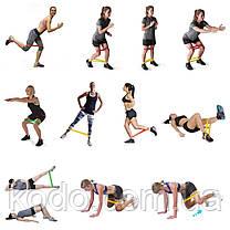 Набор Фитнес резинки ESONSTYLE из 5 лент и чехла для фитнеса, фото 2