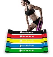 Набор Фитнес резинки BODBANDS из 5 лент и чехла для фитнеса
