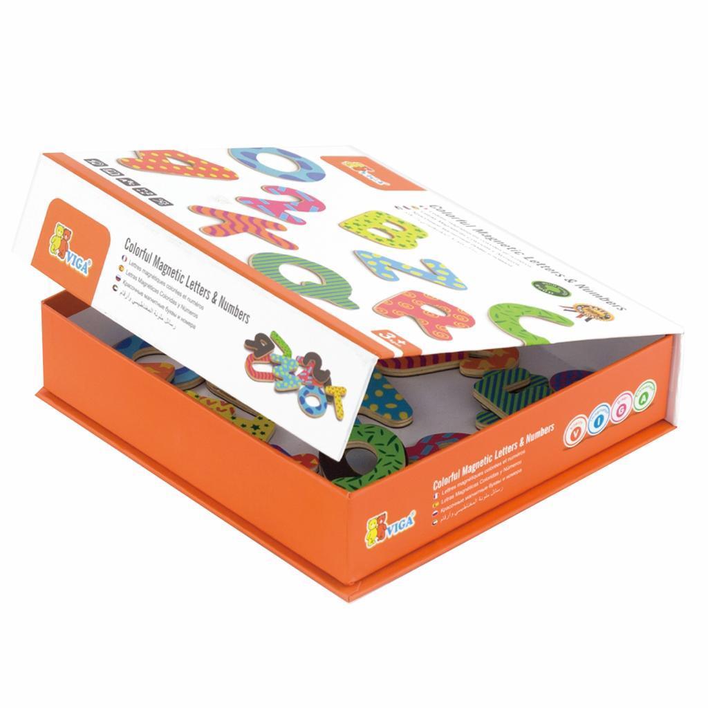 Развивающая игрушка Viga Toys Буквы и цифры магнитные, набор (59429)