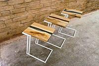 Новинка! Прикроватный столик лофт с рекой из эпоксидной смолы от ЦЕХ72